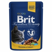 Brit Premium Cat Chicken & Turkey 0,1 кг