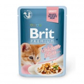 Brit Premium Cat Kitten Chicken Fillets Gravy 0,085 кг