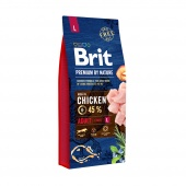 Brit Premium Adult L Chicken 15 кг