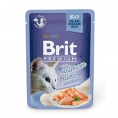 Brit Premium Cat Salmon Fillets Jelly 0,085 кг