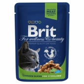 Brit Premium Cat Sterilised Chicken 0,1 кг