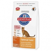 Hill's Science Plan Feline Adult Optimal Care Lamb 10 кг