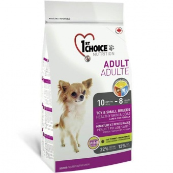 1st Choice Toy & Small Breeds Healthy Skin & Coat Adult 0,35 кг