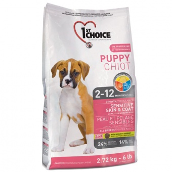 1st Choice Sensitive Skin & Coat All Breeds Puppy 2,72 кг