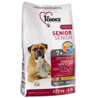 1st Choice Senior Sensitive Skin & Coat All Breeds 12 кг