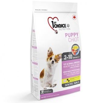 1st Choice Toy & Small Breeds Healthy Skin & Coat Puppy 2,72 кг