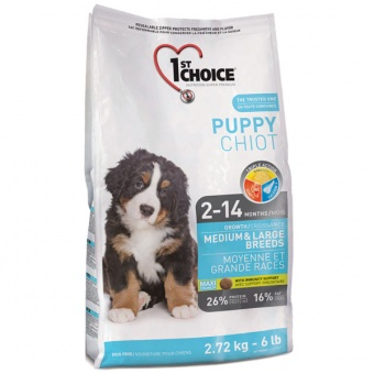 1st Choice Medium & Large Breeds Puppy 2,72 кг